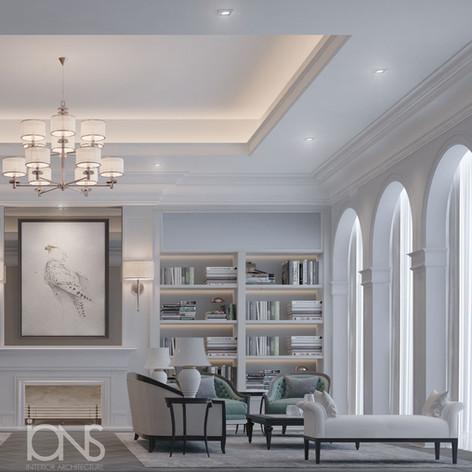 Family living room interior design.Dubai Villa