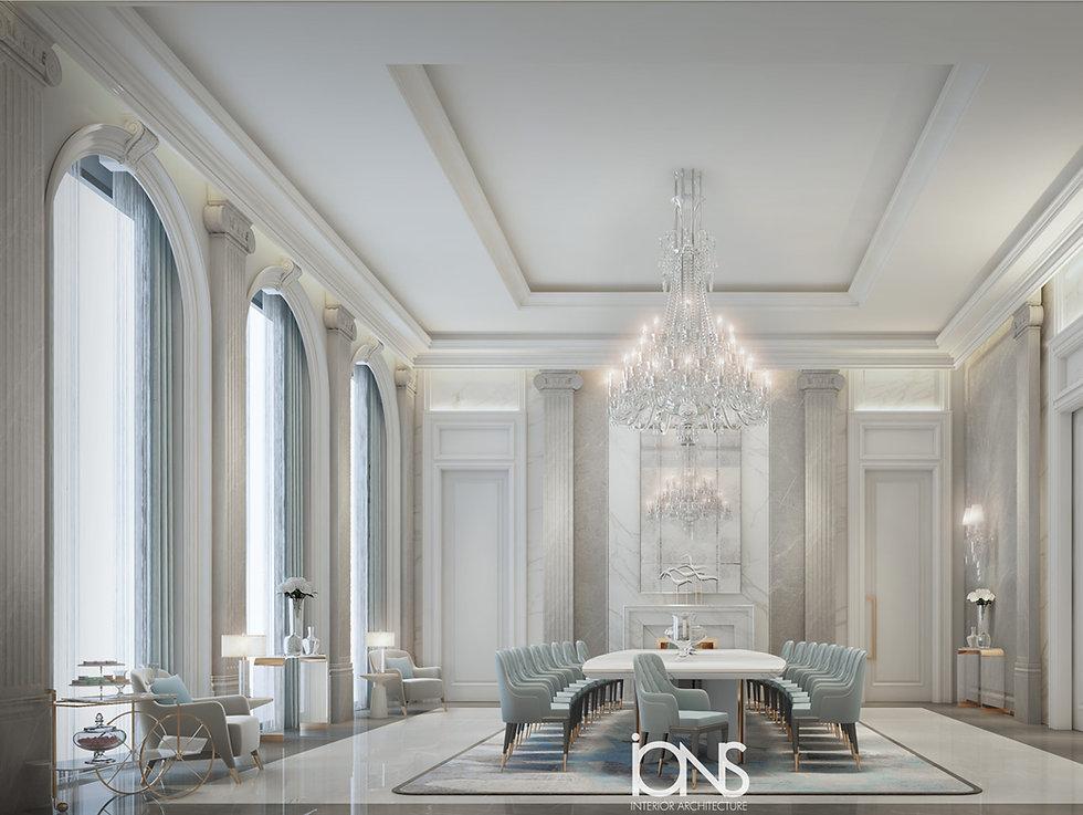 Qatar Royal Palace Dining Room design