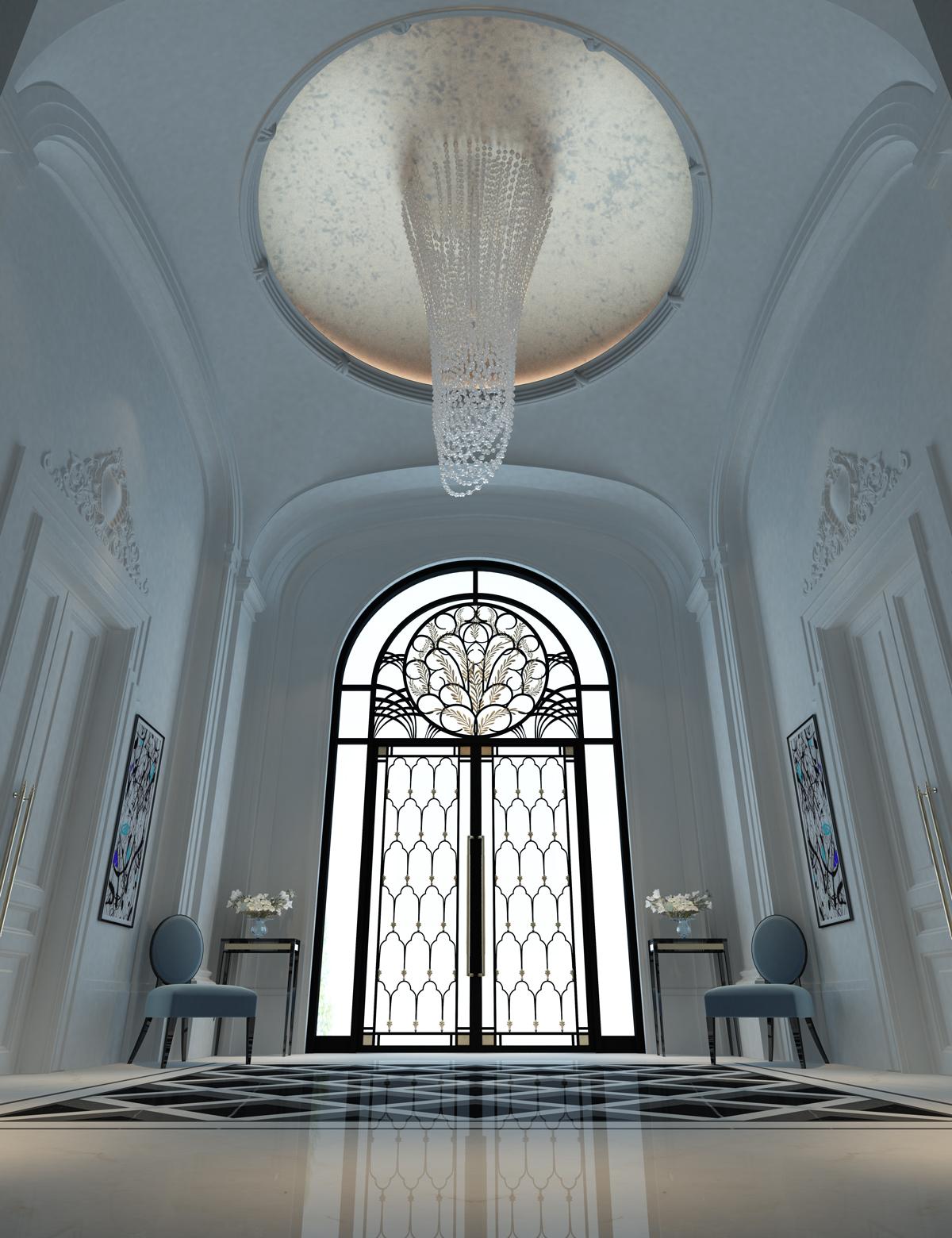 Majestic Foyer of a Villa Design