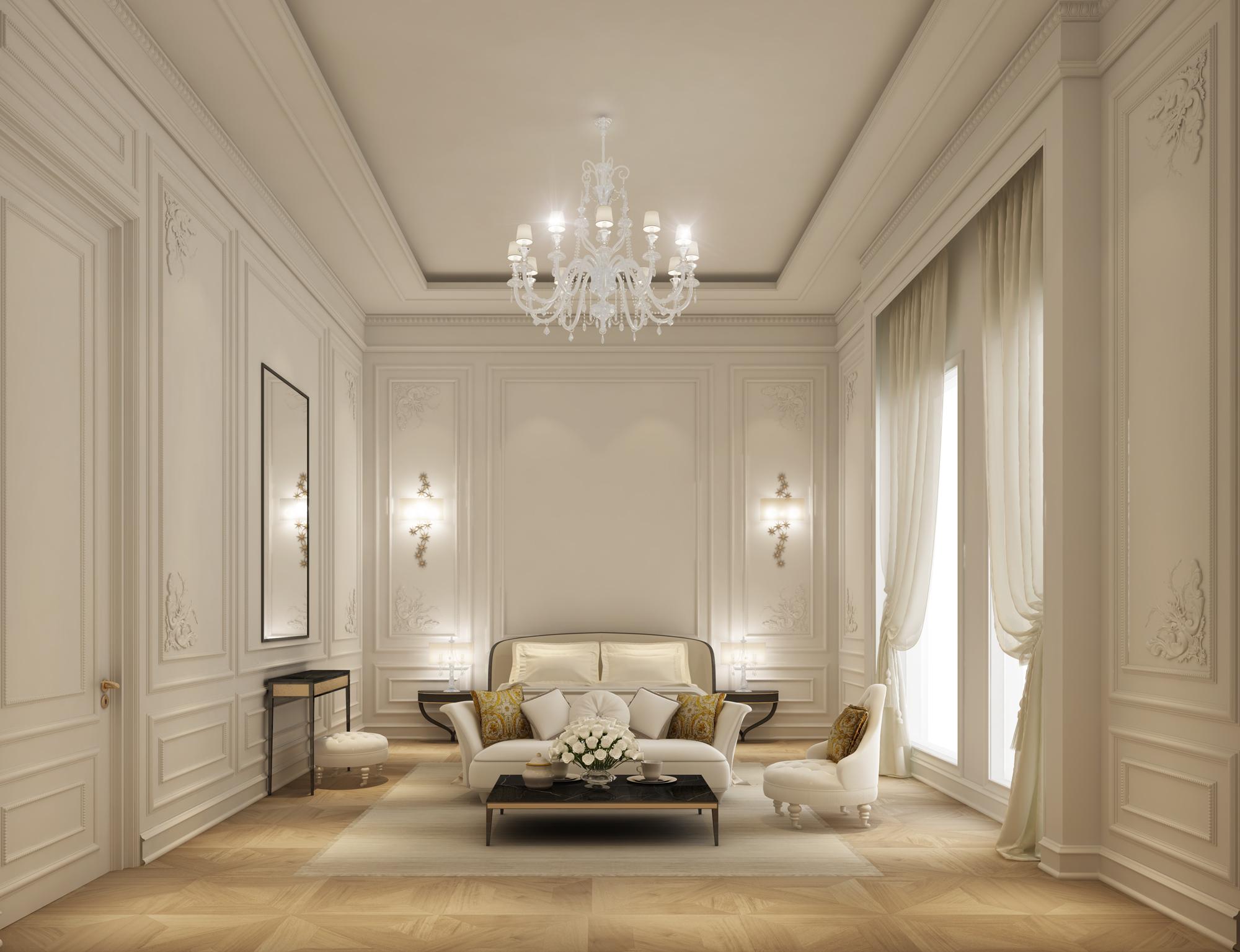 Cozy Bedroom for a Villa Design