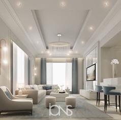 luxury sitting area interior design.Dubai Villa