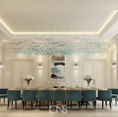 Villa in Dubai Dining room interior design