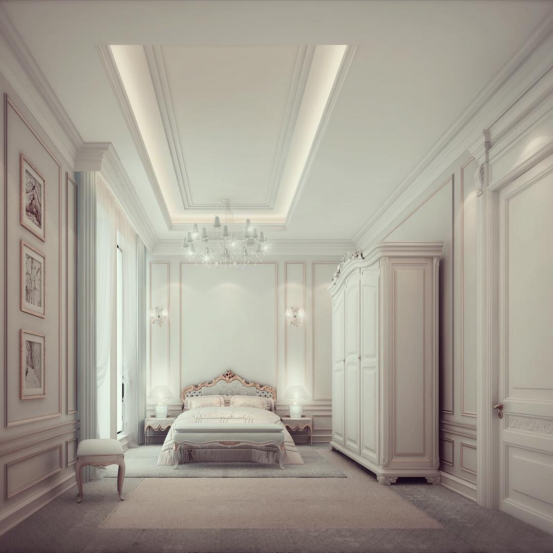 White Bedroom Interior Design