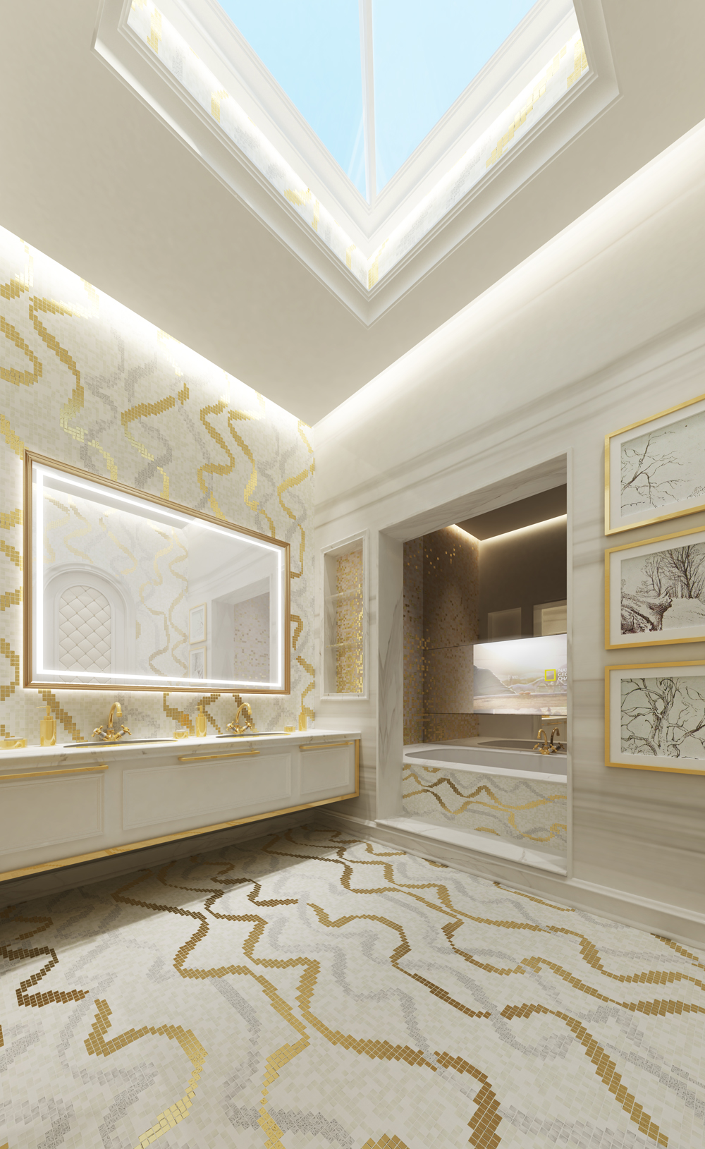 Bathroom  Design for Villa Design