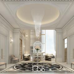 Entrance lobby Interior Design - Dubai villa