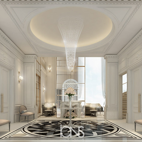 Entrance lobby Interior Design - Dubai villa