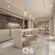 Dubai villa open kitchen interior design