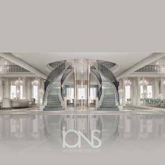 Luxury Classic staircase interior design . Virginia palace,USA