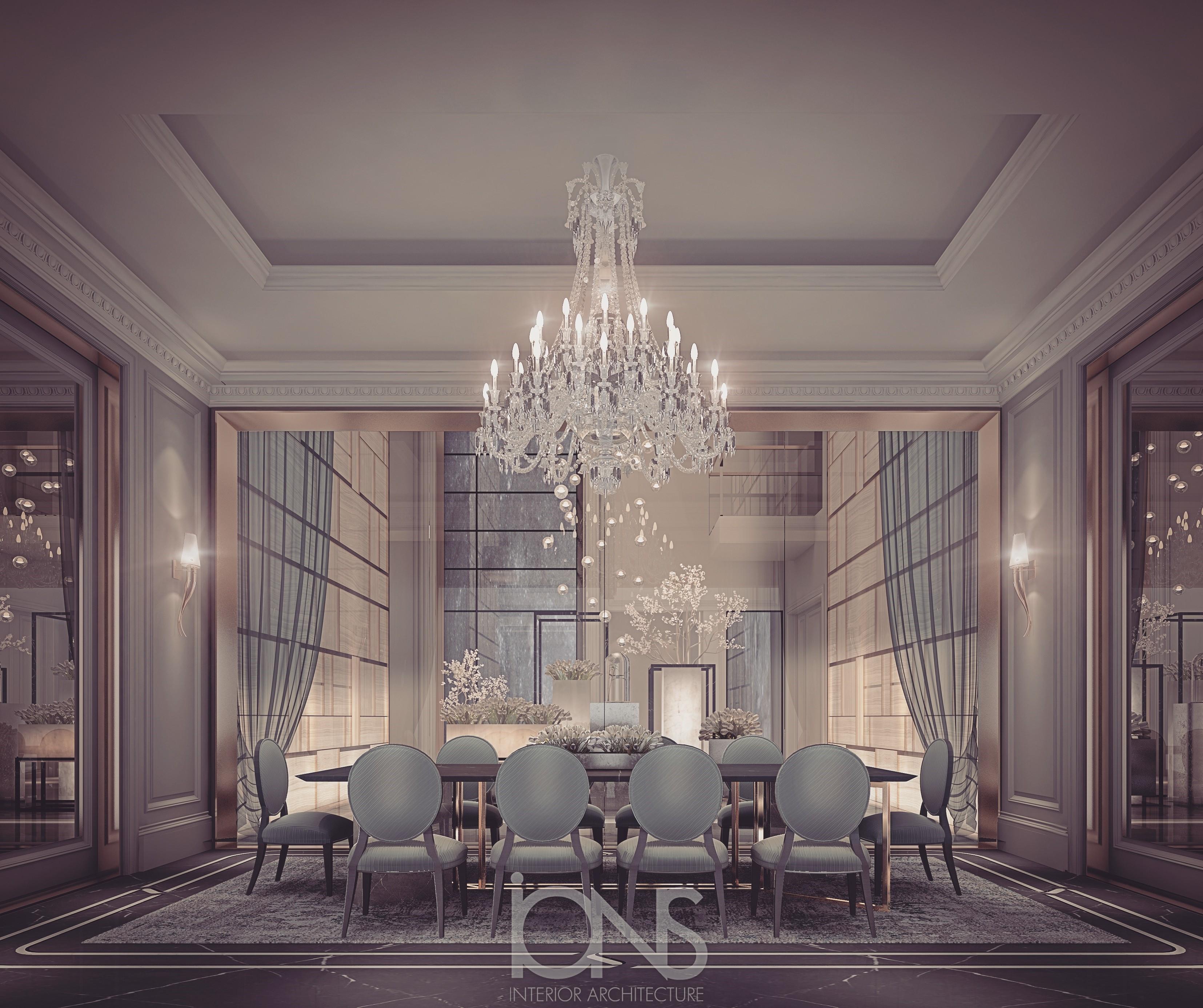 Parisian Style Dining Room Interior