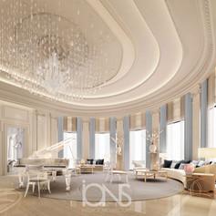 Piano Lounge interior design in Doha