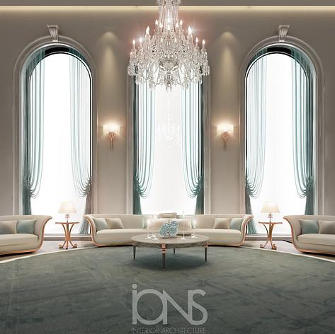 The Majlis interior design, Saudi palace