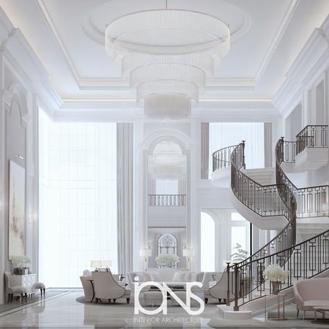 Staircase interior design.Dubai villa