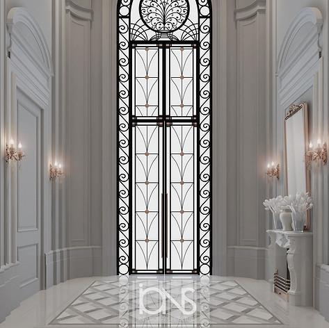 Entrance lobby interior design Abu Dhabi villa