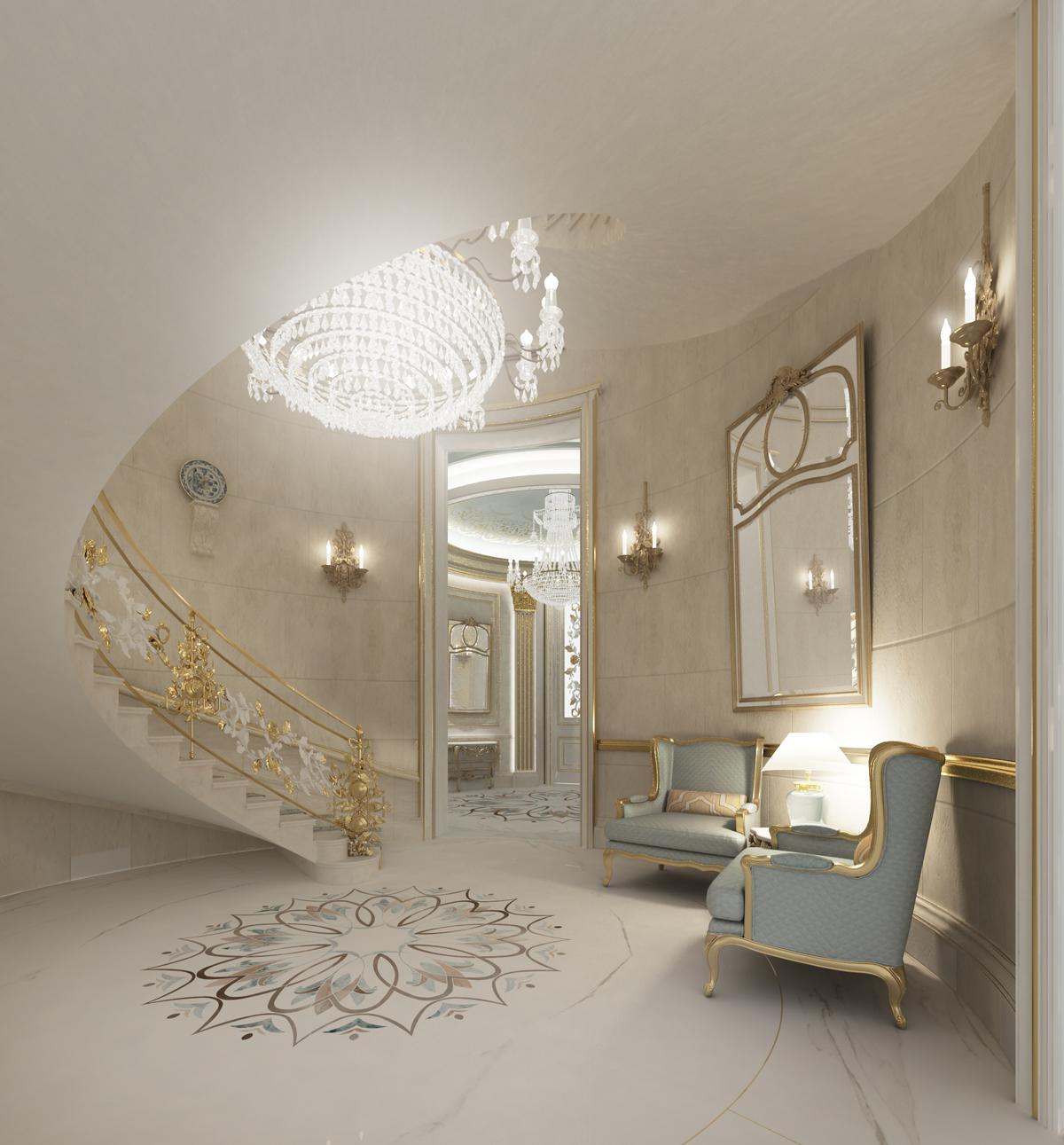 Foyer Interior Design - Doha Qatar