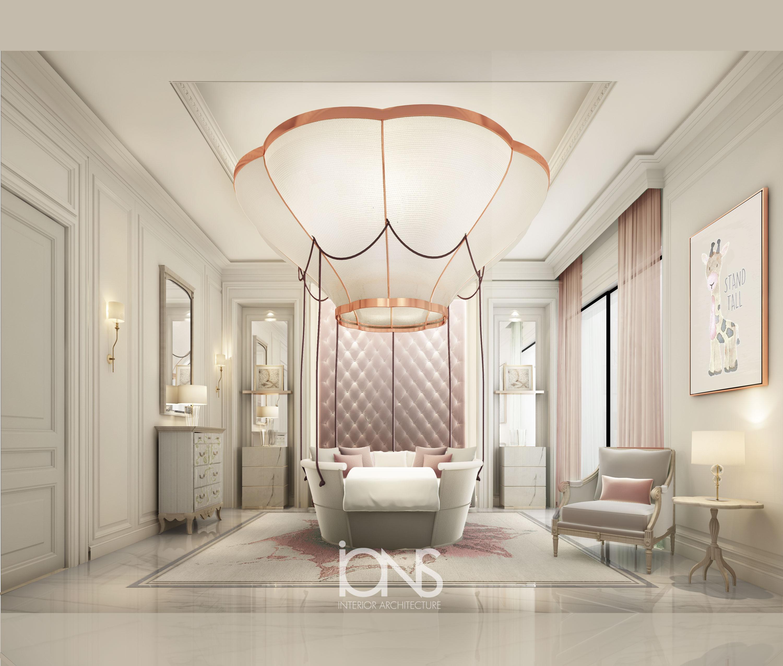 Pink Bedroom Interior for Children