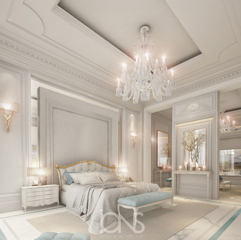 Bedroom interior design dubai villa