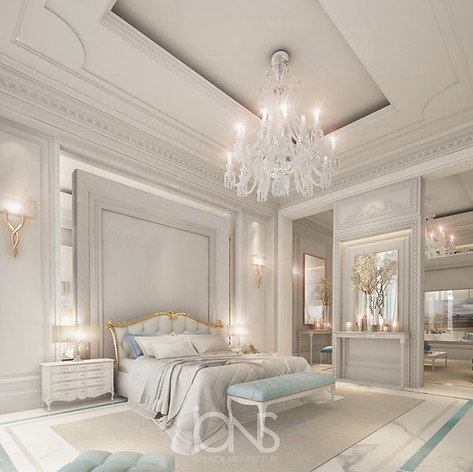 Bedroom interior design dubai villa
