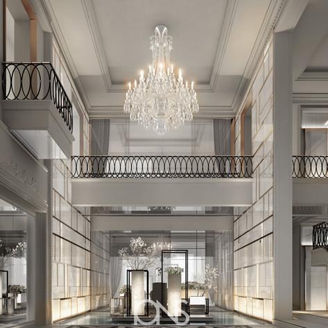 Lobby in a Luxury Villa Design