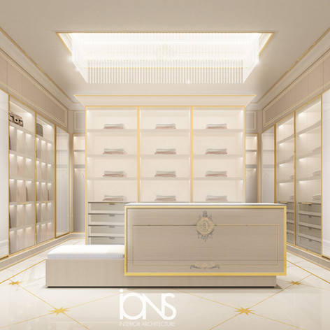 Dressing room interior design for a villa in Doha,Qatar