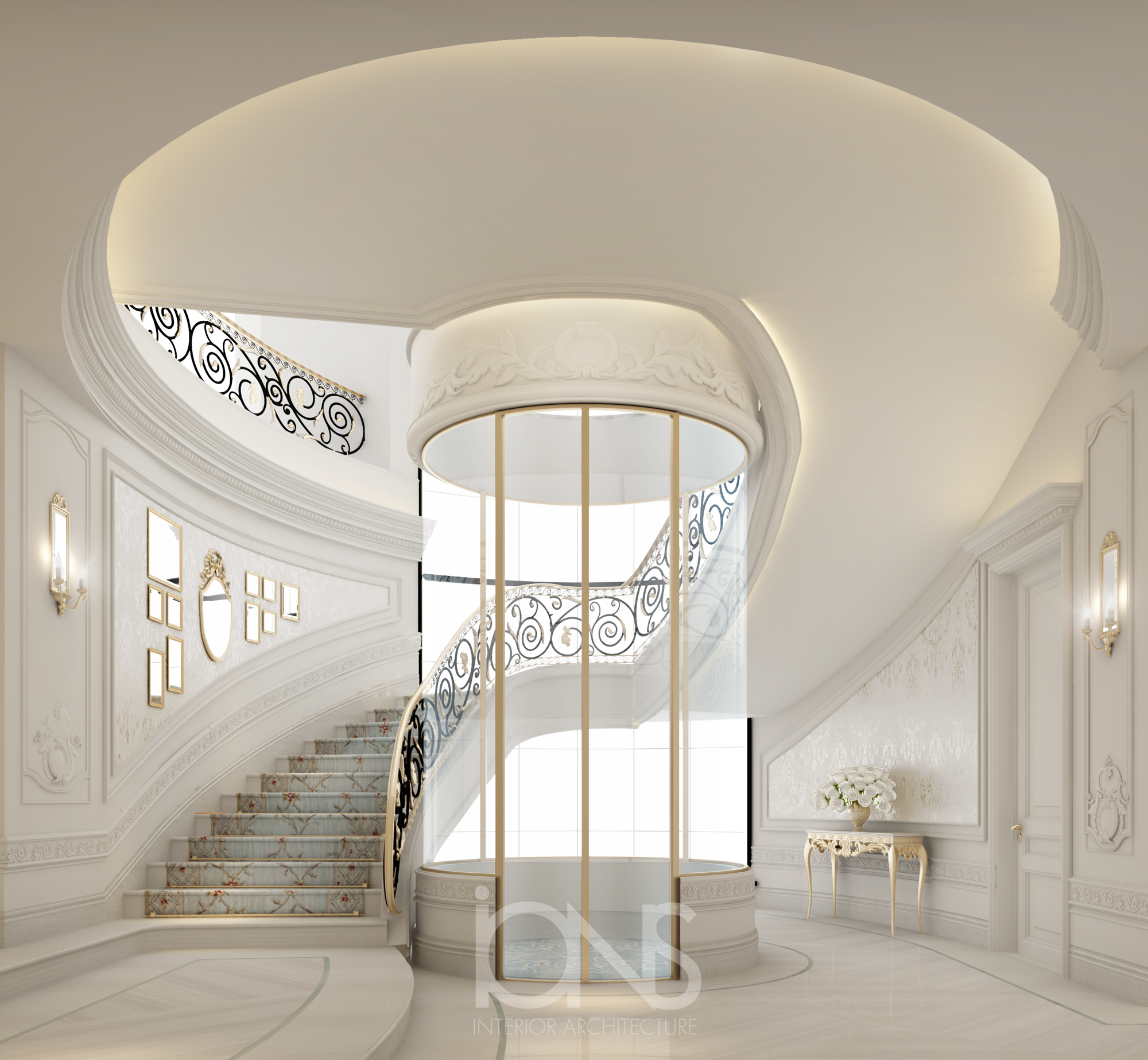 Staircase Area Interior Designing