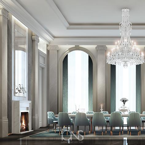 Qatar Palace luxury dining room interior design