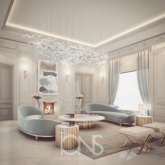 Bedroom Design Private Palace: VILLAS INTERIOR DECORATION DOHA