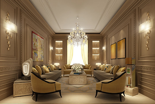 Ions luxury interior design dubai interior design for Villa interior design living room