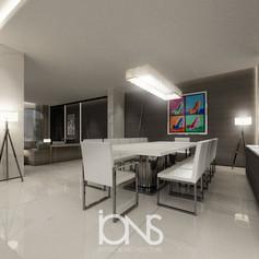 Modern Dining room Interior design Dubai Villa