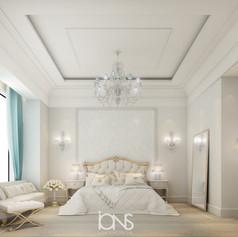 Luxury bedroom interior design in Doha, Qatar