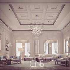 Family sitting room interior design