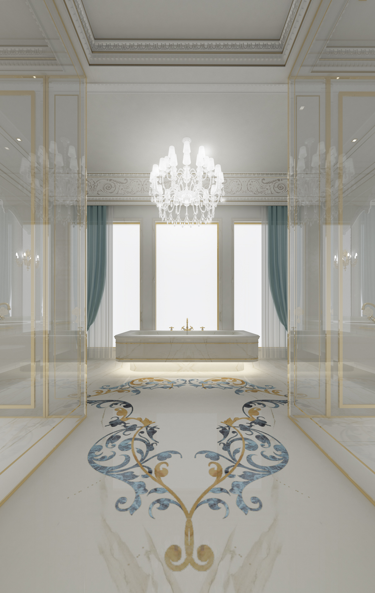 Fabulous Bathroom in Villa Design