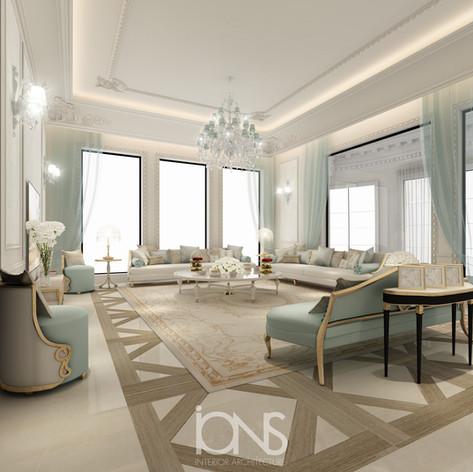 Family living room interior design