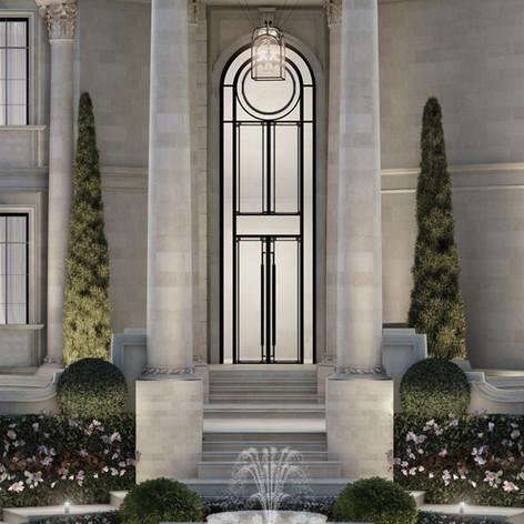 Entrance door design Qatar Villa