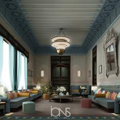 Arabic Moroccan majlis interior design , Dubai Villa