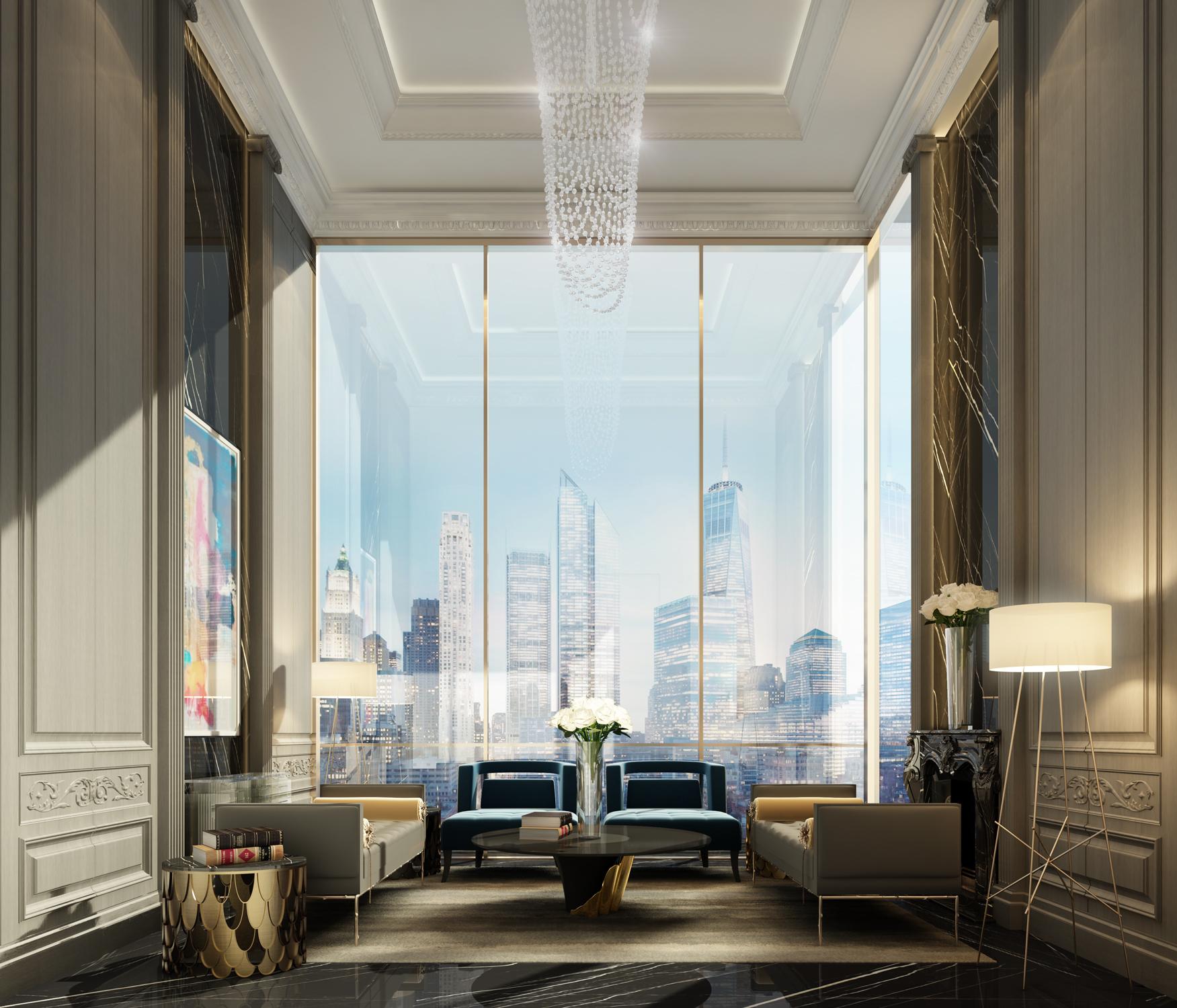 Chic Living Room Interior Design