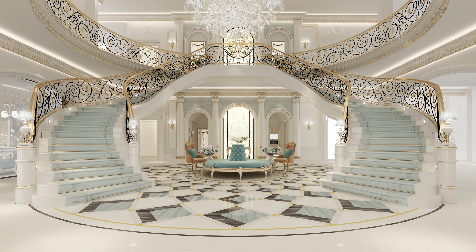 Grand Lobby Interior Designing