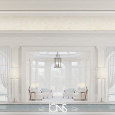 Mansion Interior with swimming pool Design