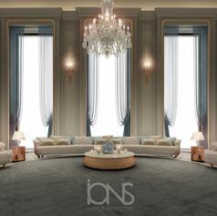 Grand Lounge interior design , Riyadh  house