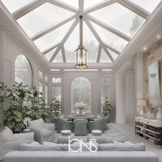 Pergola Sitting interior design.Dubai villa