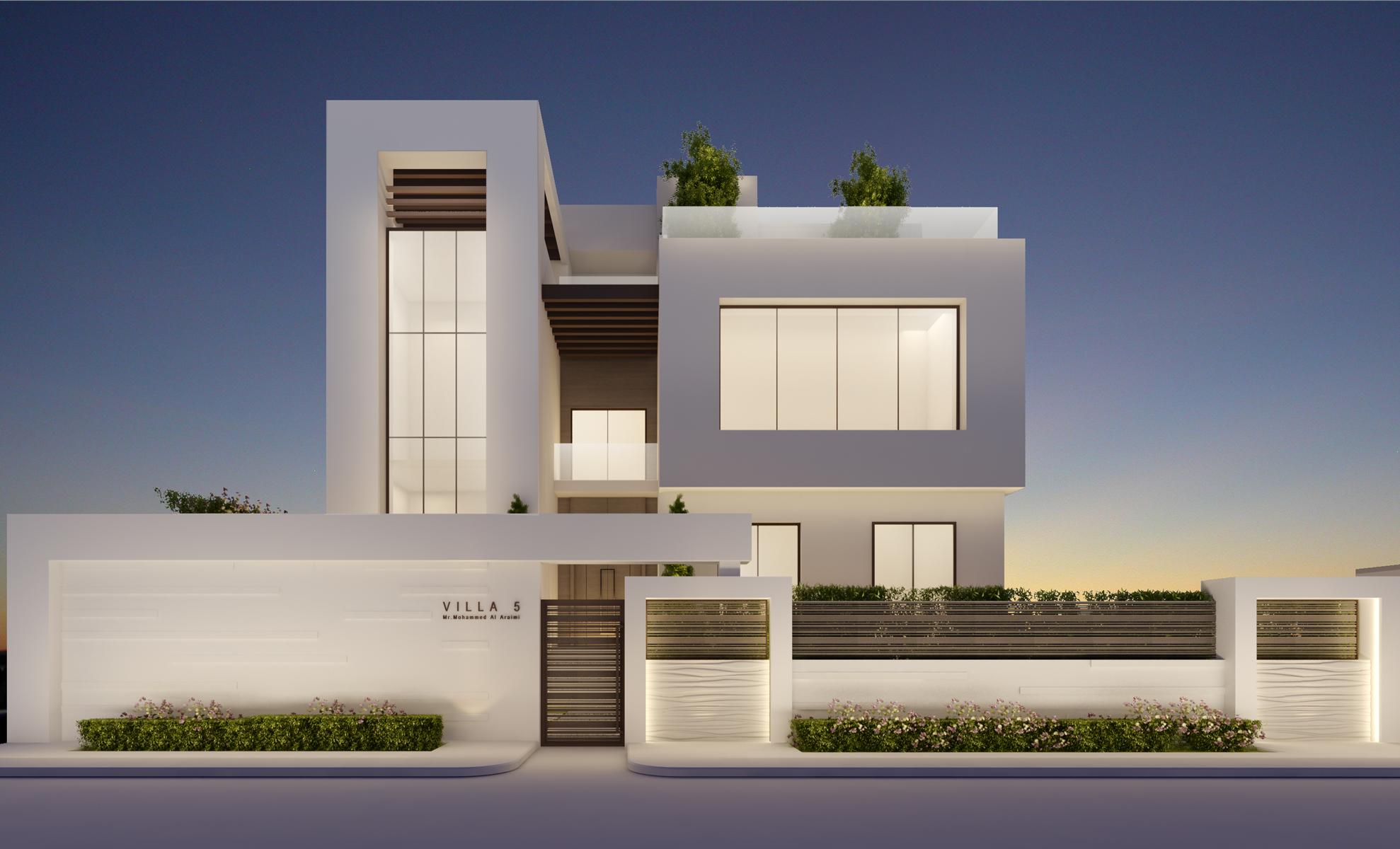 Exterior of Modern Villa Design