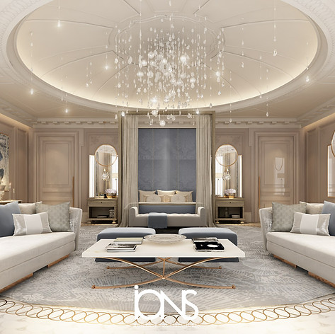 Royal Master bedroom design in Doha