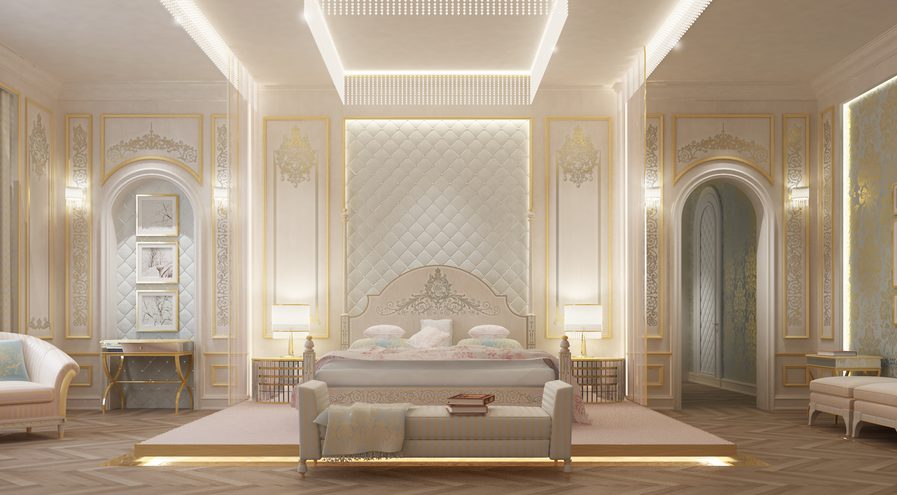 Beautiful  Bedroom Interior - Dubai
