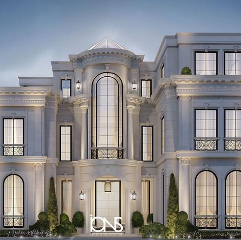 Villa architecture design in Abu Dhabi