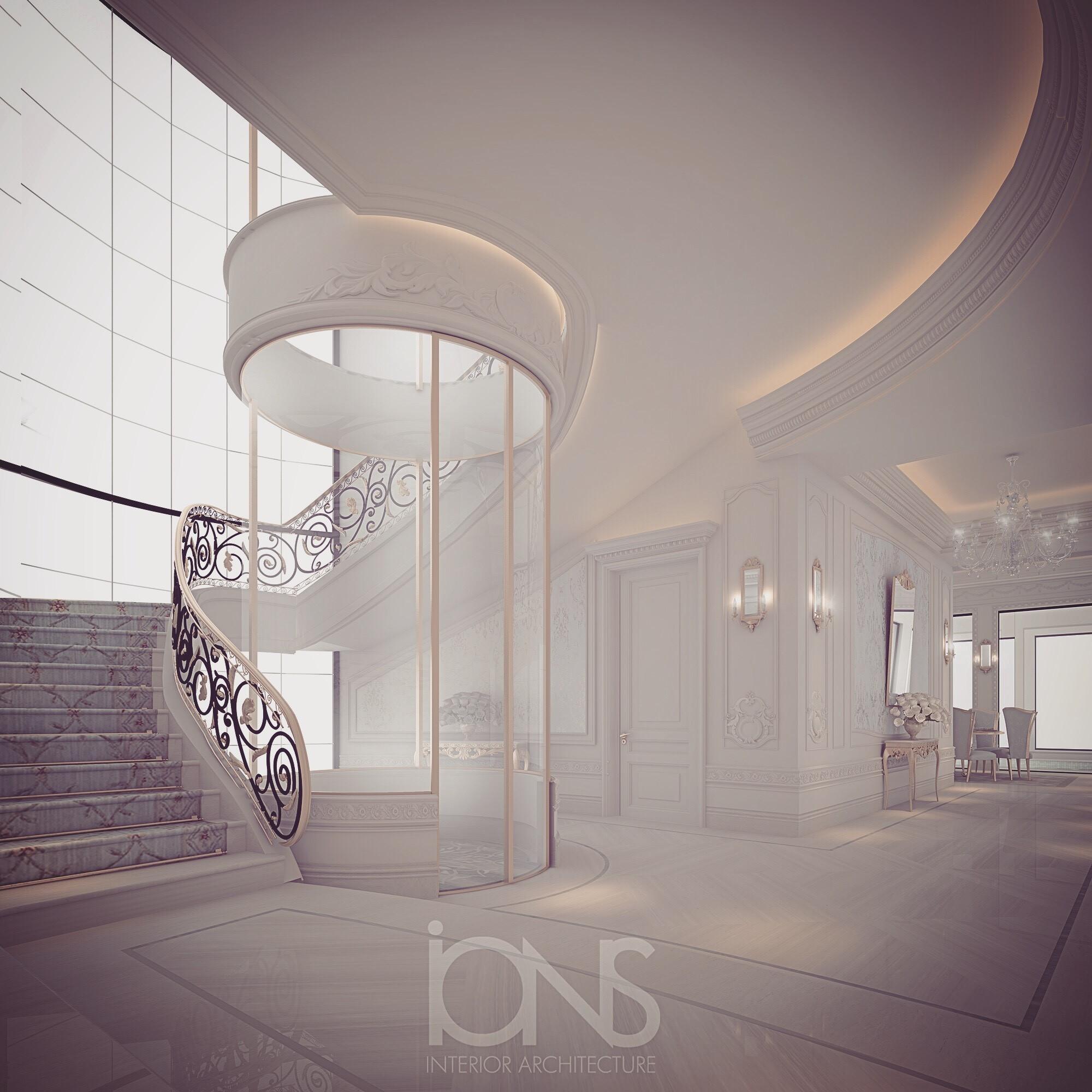 Grand Staircase for Villa Design