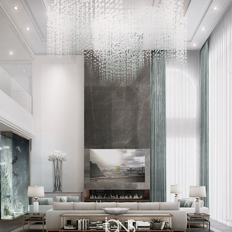 Family  living room Modern interior design