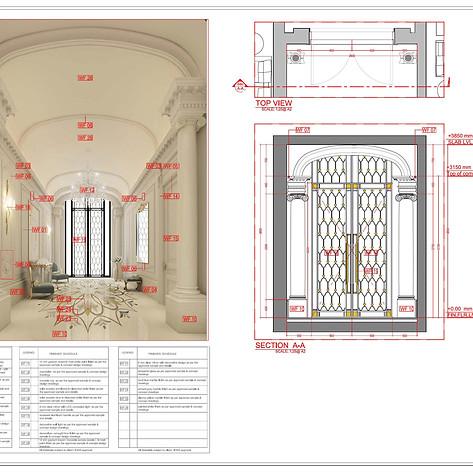 interior elevation details