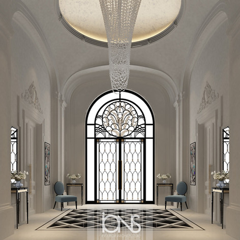Reception and lobby interior design by IONS