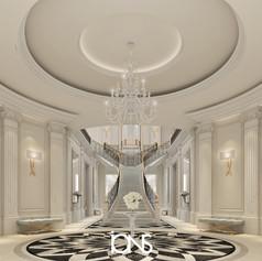 Doha palace staircase interior design