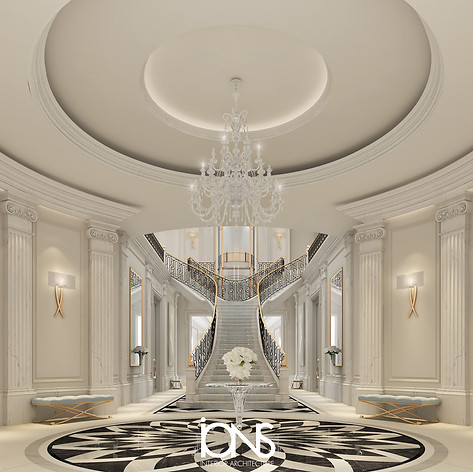 Doha palace staircase interior design
