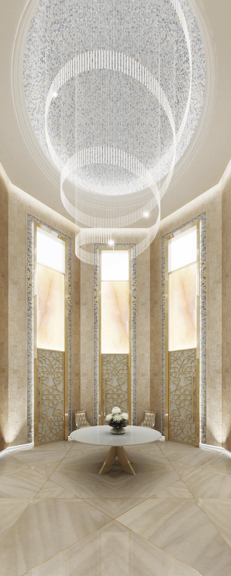 Superb Lobby of Spa Interior Design